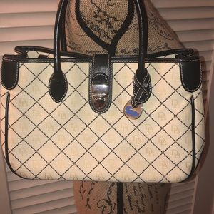 Dooney & Bourke white/cream monogrammed purse